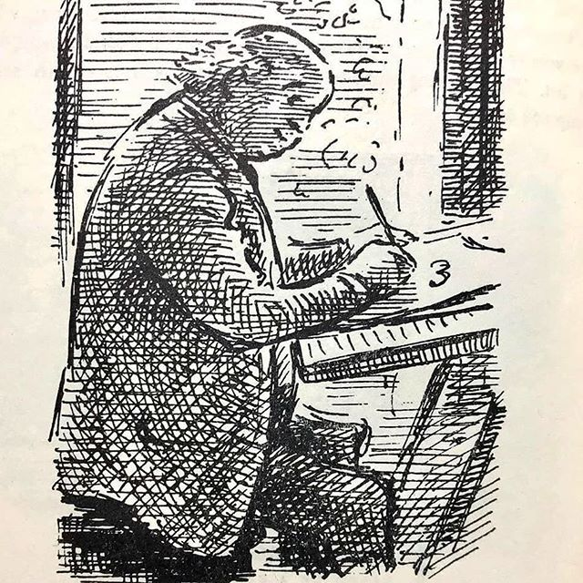 My fave, Edward Ardizzone, at work in his studio. It's a sel-portrait, but it could just as well be me... #EdwardArdizzone via @allthingsardizzone